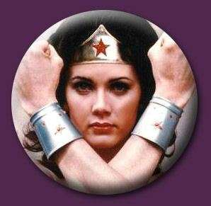 Wonder Woman 80s Retro Emo Punk 1 Pin Button Badge