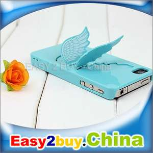 New 3D Design 2 in1 Angel Wing Holder Hard Case for iPhone 4 4G 4S 4GS