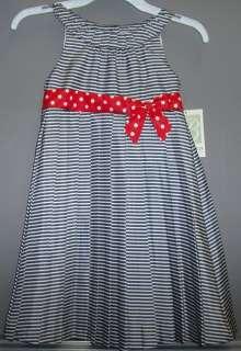Girls Blue/White Striped Dress by Bonnie Jean Size 3/3T