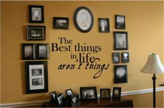 Best Things Life Arent Vinyl Wall Decal Words Letters