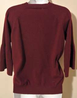 Brunello Cucinelli Burgundy Cashmere Sweater S