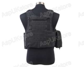 Airsoft Tactical USMC MOLLE Assault Vest Black AG