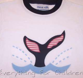 Boys KELLYS KIDS shirt 7 8 NWT boutique whale t July 4