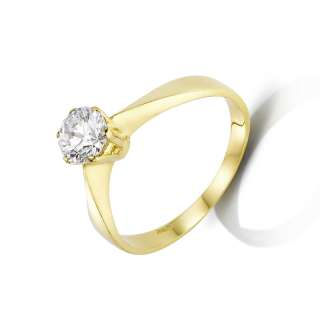 CT H VS BRILLIANT CERTIFIED DIAMOND RING YELLOW GOLD 18K