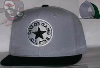 Taylor Gang Wiz Khalifa Gray/Black Snapback Hat Cap Last Kings Obey