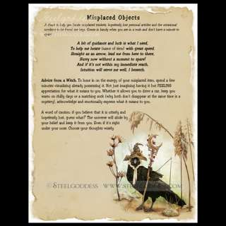 MISPLACED OBJECTS Spell Book of Shadows Pages Wicca Art