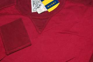 POLO RALPH LAUREN RUGBY MENS RED BURGUNDY SHIRT SMALL