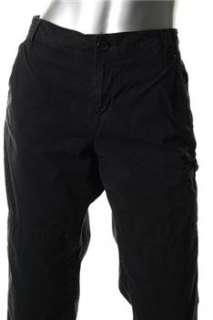 DKNY Jeans NEW Petite Cargo Pants Black BHFO 12P