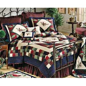 Whispering Pines Rustic Twin Bed Quilt: Home & Kitchen