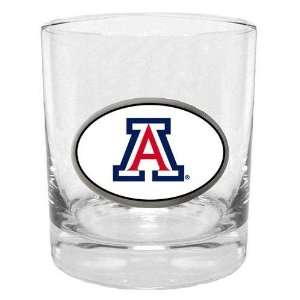 Arizona Wildcats NCAA Team Logo Double Rocks Glass