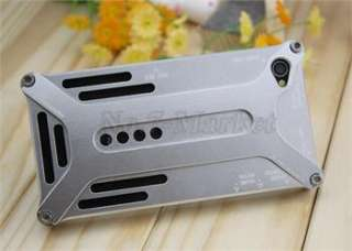 New Silver Aluminum Transformers Metal Bumper Case Cover for iPhone 4