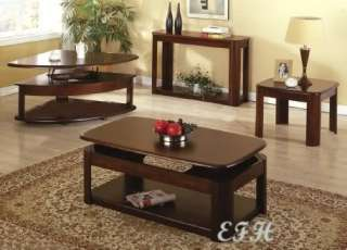 Modern hidden storage dark wood wenge coffee table low profile for Cherry wood lift top coffee table