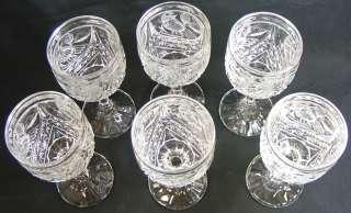 GORGEOUS VINTAGE HOFBAUER GERMAN LEAD CRYSTAL WINE GLASS SET
