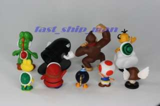 Nintendo super mario Bros 17 figures+ key chain B