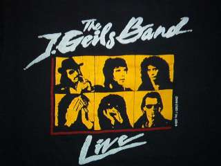 vintage J. GEILS BAND CONCERT SHIRT tour rock 80s LG