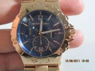 Michael Kors MK 5410 Womens Bel Aire Blue Chronograph Rose Gold