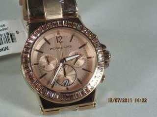 Michael Kors MK 5412 Womens Rose Gold Bel Air Classic Chronograph Date