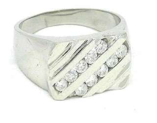70 CTW 14K White Gold Mens Diamond Ring
