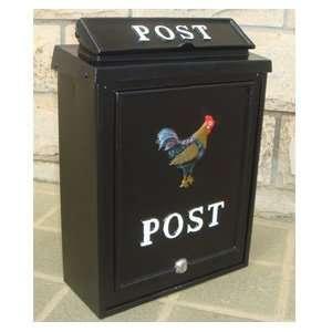Cockerel Black Wall Mounted Post Box [Kitchen & Home