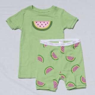 NWT NEW BABY GAP GIRLS SUMMER SHORT PAJAMAS PJS
