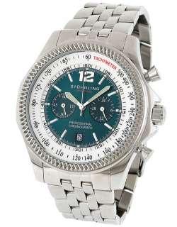 Stuhrling 176B2 Targa 24 Pro Swiss Chrono Green Dial Bracelet Mens