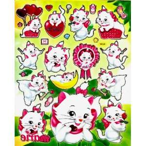 Aristocats Marie pink bow kitten cats kitty Disney Movie Sticker Sheet