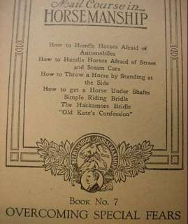 1944 PROF BEERYS Horse Training Course Book Lot 4