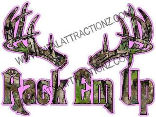 Em Up S4 Vinyl Sticker Decal Buck deer hunting whitetail bow M