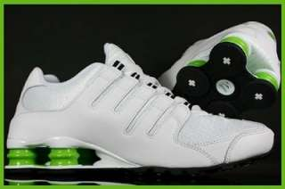 NIKE SHOX NZ WHITE / BLK / GREEN RUNNING SHOE NEW SIZE