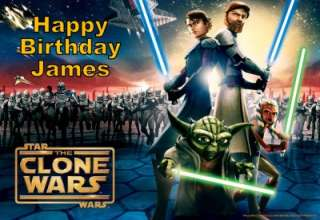 Star Wars Clone Wars Edible Cake Image Topper 1/4 Sheet