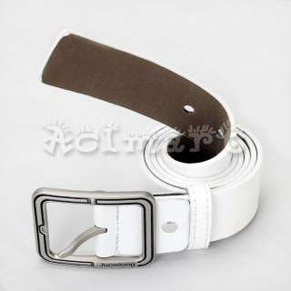 Mens Casual/Career Pants/Jeans PU Leather Buckle Belt
