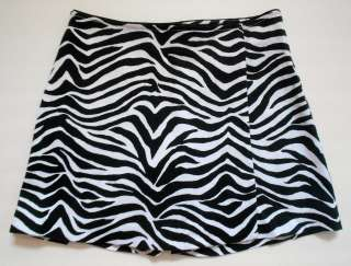 WHITE HOUSE BLACK MARKET ZEBRA ANIMAL PRINT SKORT SIZE 0