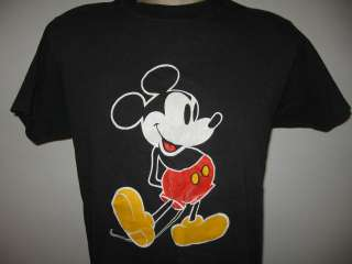 vintage 80s MICKEY MOUSE BLACK T Shirt SMALL/MEDIUM walt disney world