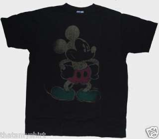 New Junk Food Mens Disney Mickey Mouse Negative T Shirt Size Large