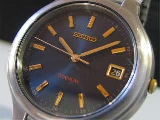 Japan 1997 SEIKO Quartz watch [7N42 8109] Titanium