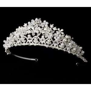 Swarovski Crystals, Faux Pearls, and Rhinestones Wedding Bridal Tiara