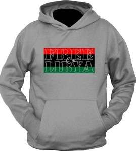 NEW Custom Free Libya Flag World Peace Hoodie T Shirt
