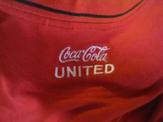 Mens Extra Large Coca Cola United MOJO Red Golf Polo Shirt L@@K