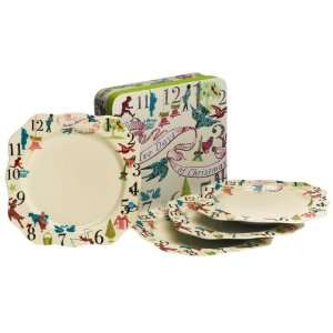 Rosanna 12 Days Of Christmas Gift Boxed Dinner Plates, Set