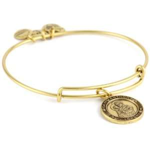 Alex and Ani Bangle Bar St. Anthony Expandable Wire in Russian Gold