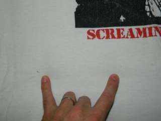 SCREAMING LIVE VINTAGE TOUR T SHIRT CONCERT 80S GRUNGE SEATTLE