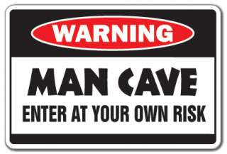 Warning Sign gift hangout room mancave signs beer cigar TV darts smoke