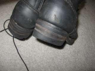 Wesco mens leather work boots black sz 11 D