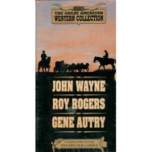 John Wayne [VHS] Great American Western Collection Movies & TV