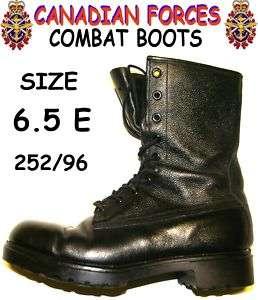 CANADIAN ARMY COMBAT BOOTS   SZ 6.5E (252/96)   CU