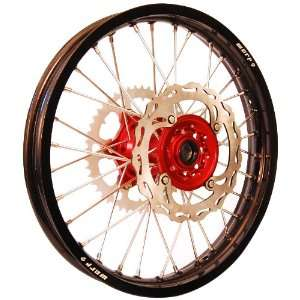 Warp 9 MX Wheels Red/Black Wheel with Painted Finished