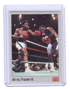 JOE FRAZIER vs. MUHAMMAD ALI Boxing 1991 AW Sports Card
