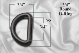 Rounded D Ring   Black Plastic 10pcs