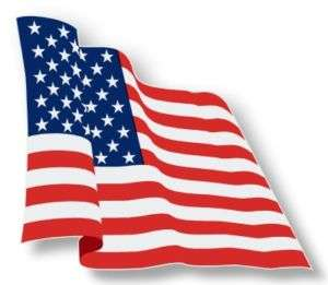 American Flag Waving USA HUGE Decal Sticker US America