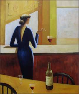 High Quality Hand Painted Oil Painting Repro Le Cafe 20x24